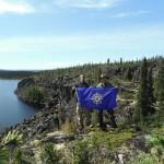 Adam Shoalts Brent Kozuh Royal Canadian Society Flag