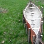 Adam Shoalts Building Canoe