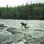 Adam Shoalts in the River